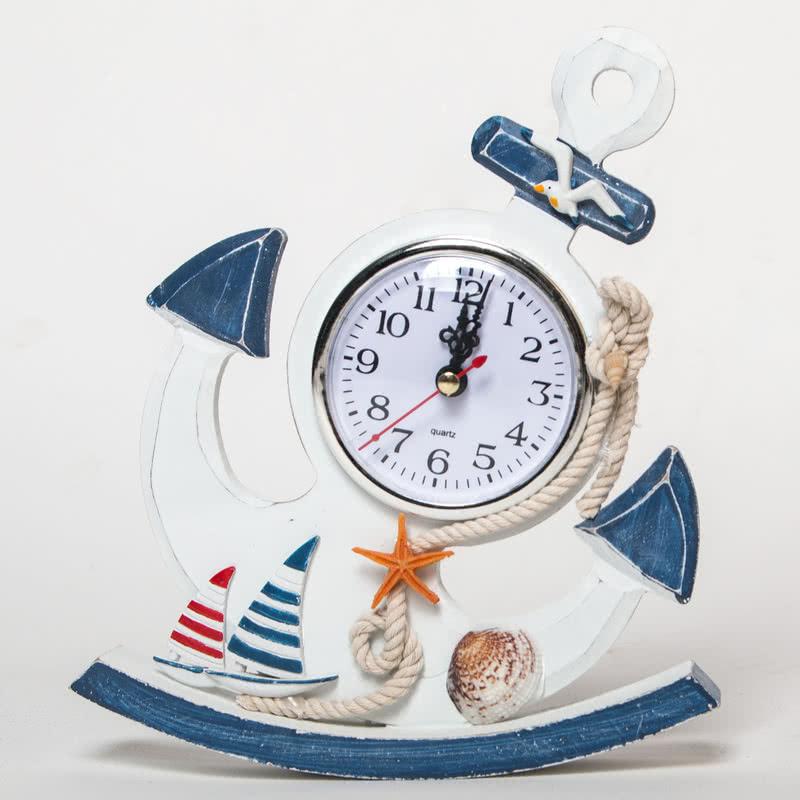 Çapa Tasarımlı Dekoratif Masa Saati