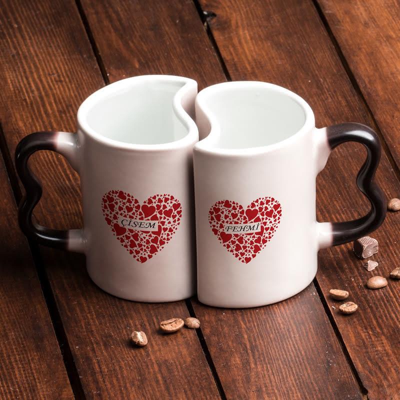 Çiftlere Özel Love Kupa - Sihirli Kupa