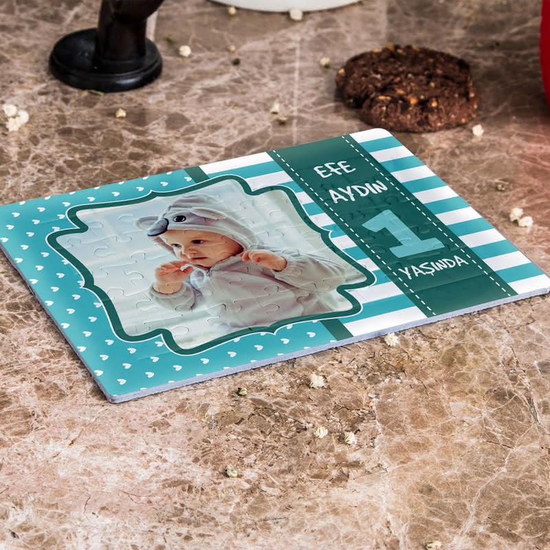 Çocuklara Doğum Günü Hediyesi A5 - 40 Parça Puzzle