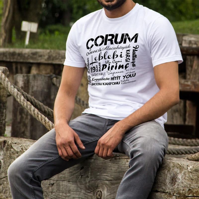 Çorumluya Özel Tasarımlı Hediye Baskılı Tişört