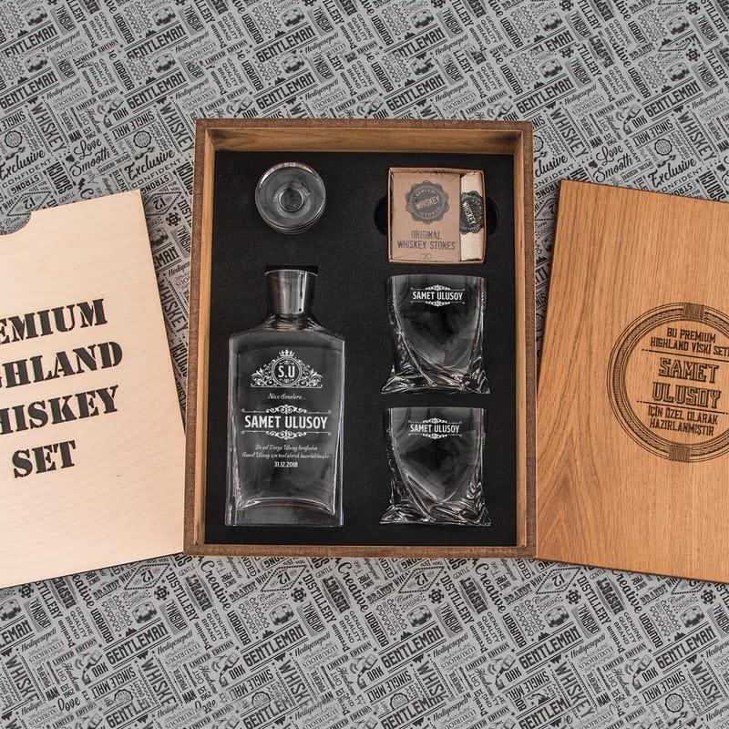 Doğum Günü Hediyesi Highland Viski Seti