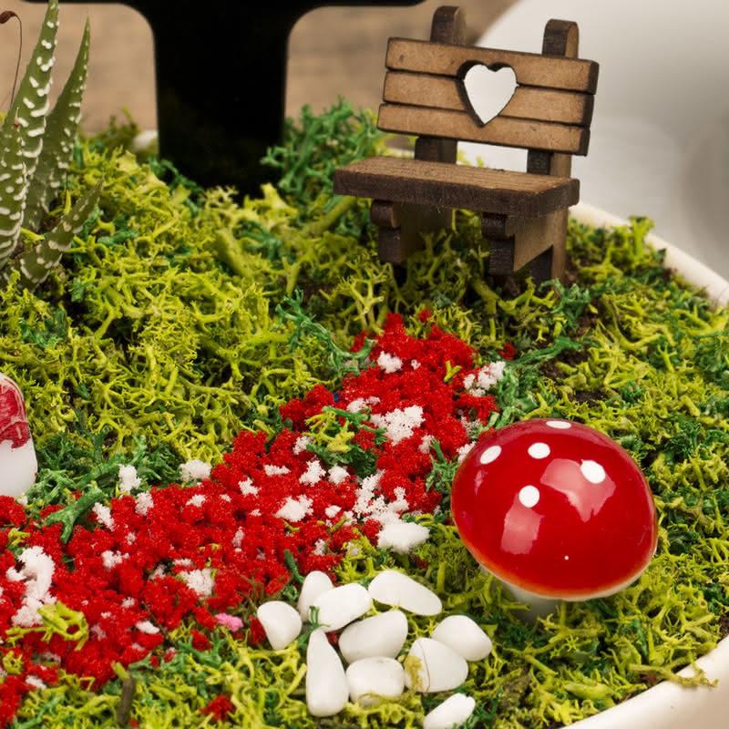 Dünyanın En Güzel Annesine Canlı Minyatür Bahçe