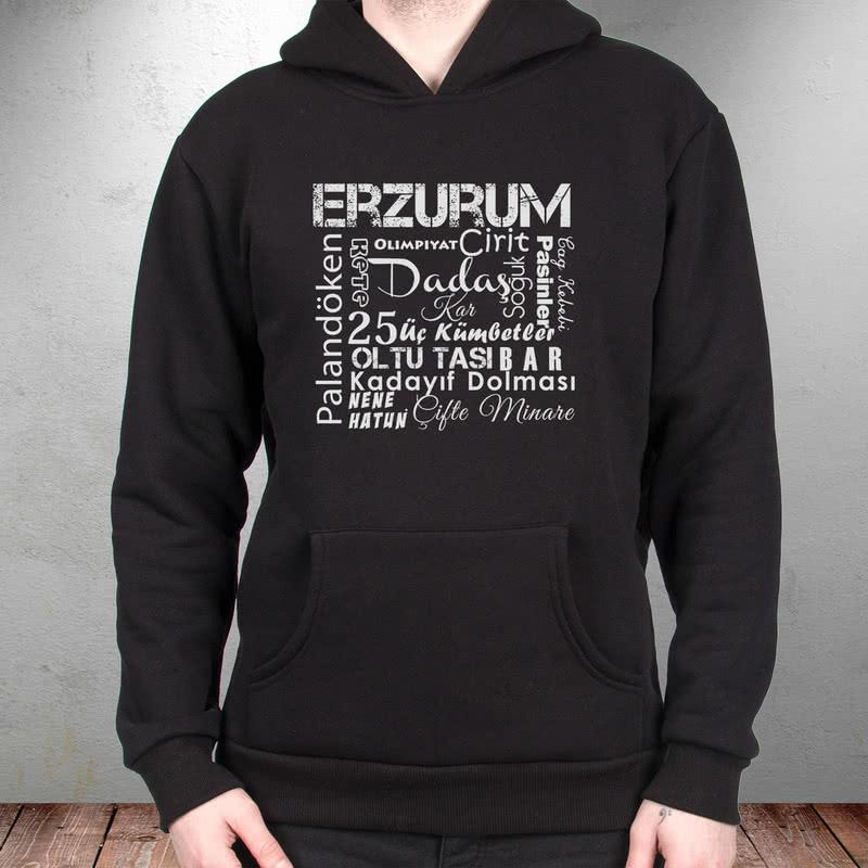 Erzurumluya Özel Kapşonlu Sweatshirt