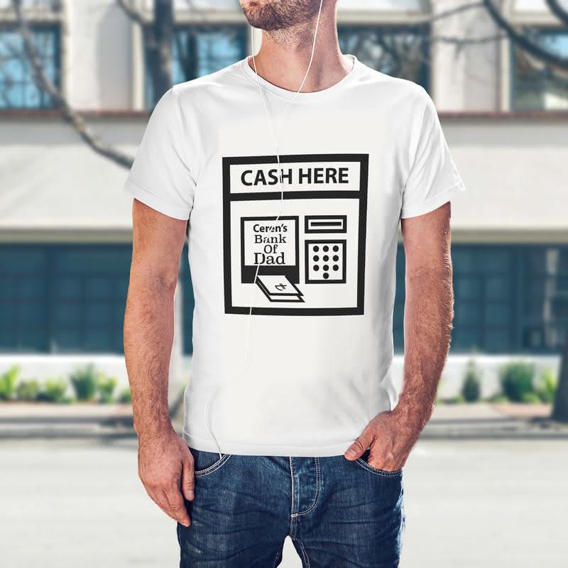 Esprili Baba Bank Kişiye Özel Baskılı Tişört