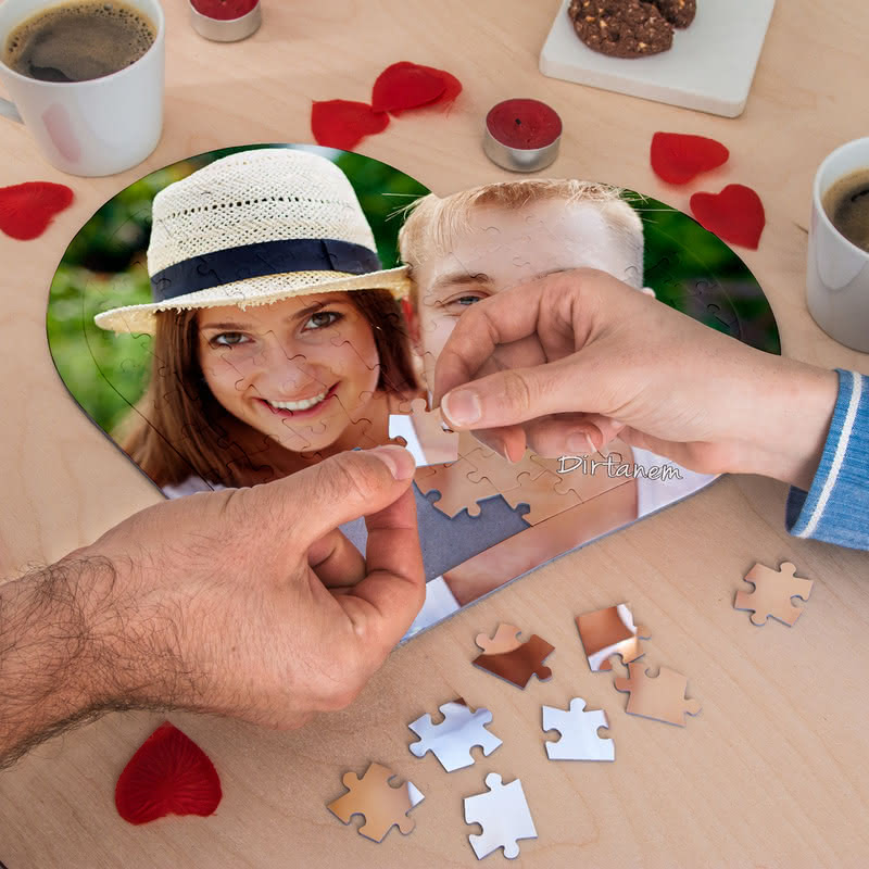 Fotoğraf Baskılı 97 Parça Kalp Puzzle