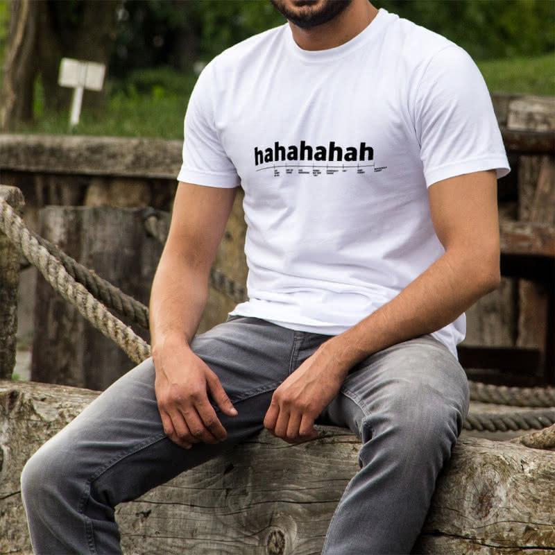 Gülme Dereceleri Cetveli Tasarımlı Esprili Tişört