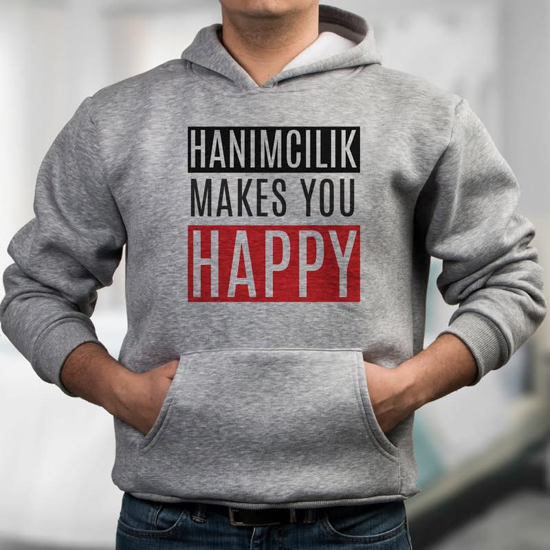 Hanımcıyız Diyenlere Özel Esprili Kapşonlu Sweatshirt