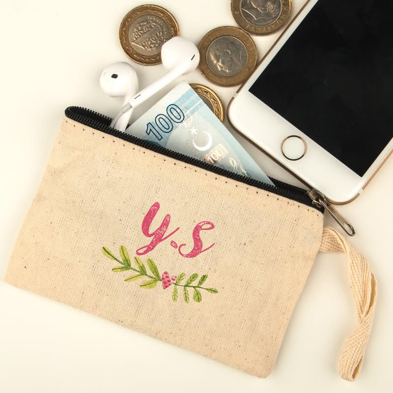 Harf Yazılı Bez Para Cüzdanı
