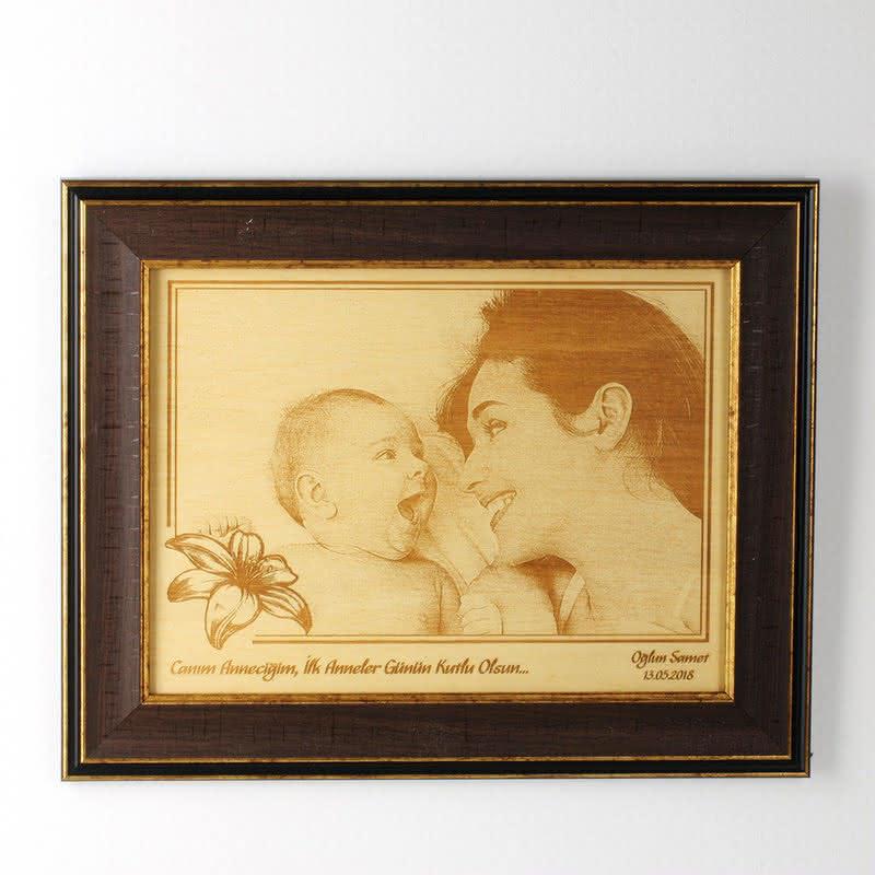 İlk Anneler Günü Hediyesi Çerçeveli Ahşapfoto