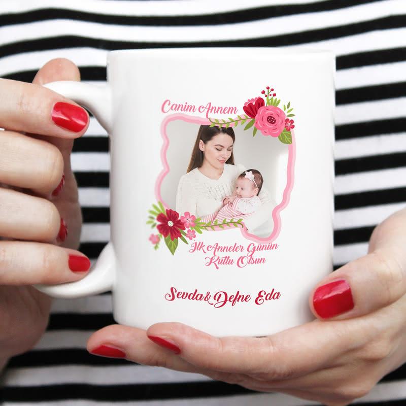 İlk Anneler Gününe Özel Fotoğraflı Kupa Bardak