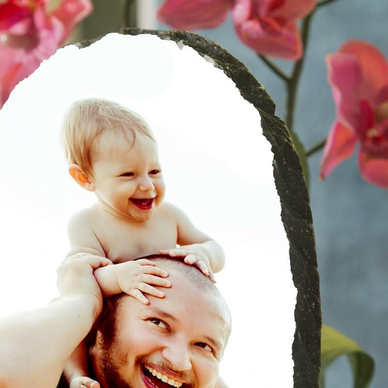 İlk Babalar Günü Hediyesi Taş Foto