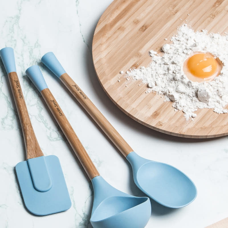 İsme Özel Isıya Dayanıklı Silikon Mutfak Seti