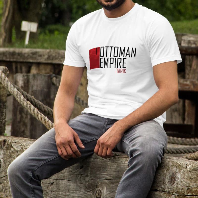 İsme Özel Minimal Osmanlı İmparatorluğu Tasarımlı Tişört