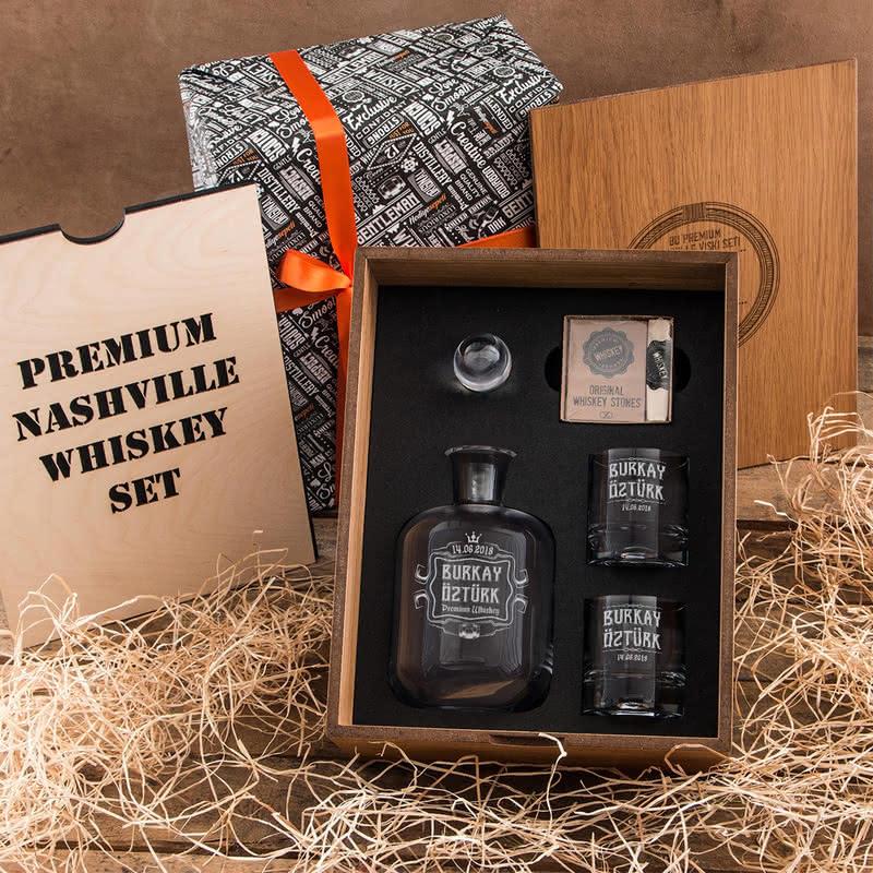 İsme Özel Nashville Viski Seti