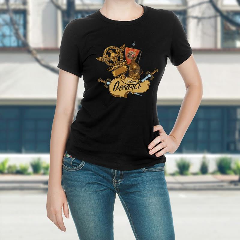 İsme Özel Osmanlı Tasarımlı Baskılı Tişört