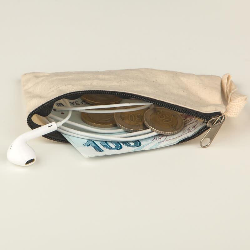İsme Özel Tasarımlı Bez Para Cüzdanı