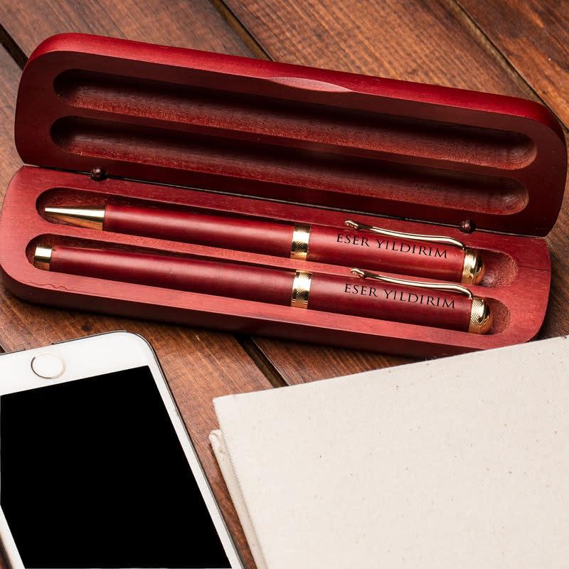 İsminize Özel Kutulu Kalem Set