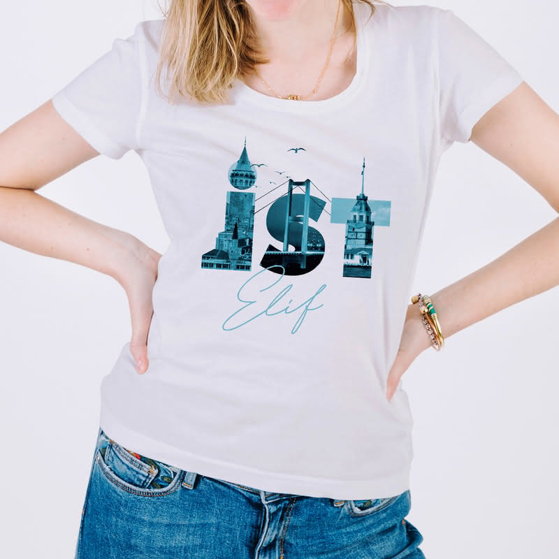 İstanbul İline Özel Tasarımlı Baskılı Tişört
