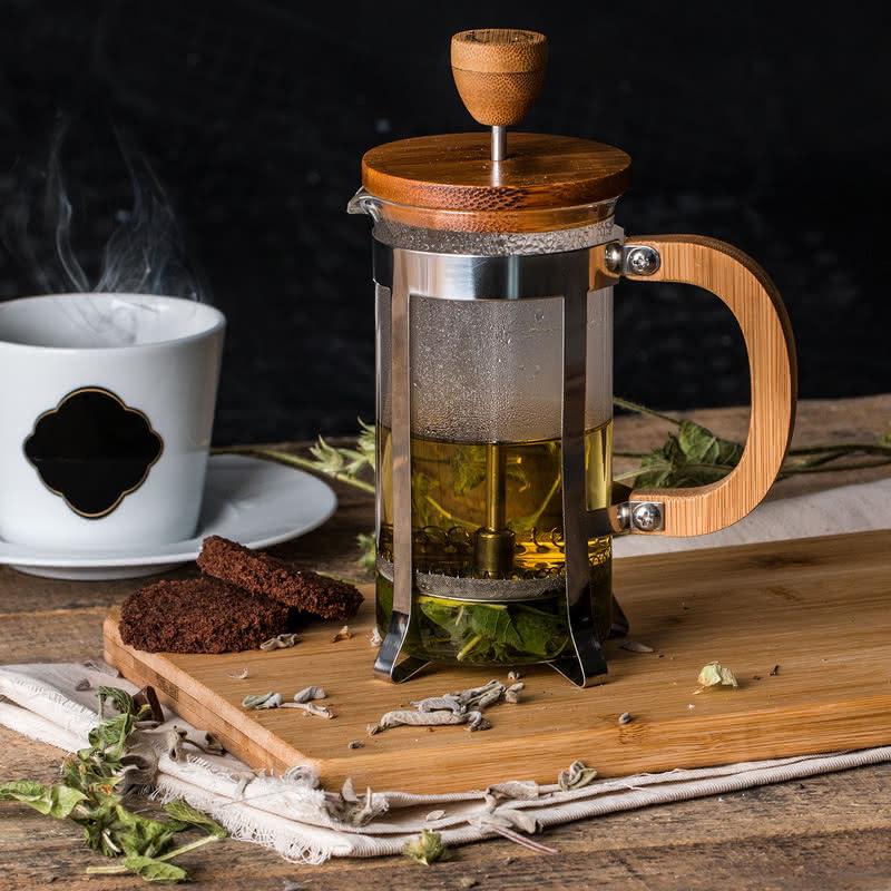 Kişiye Özel Ahşap French Press Kahve ve Çay Filtresi