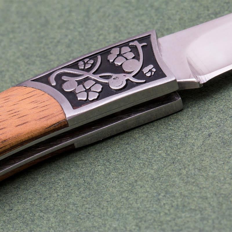 Kişiye Özel Ahşap Saplı Klasik Av Bıçağı