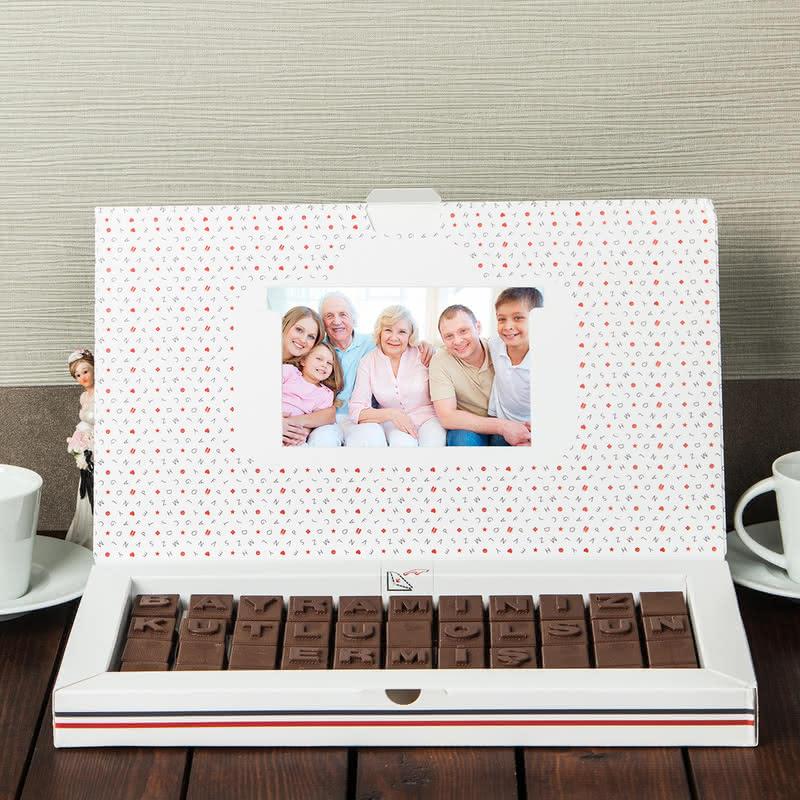 Kişiye Özel Bayram Mesajlı Harf Çikolata