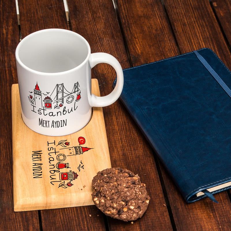 Kişiye Özel Çay Kahve Sunum Seti | İstanbul Tasarımlı