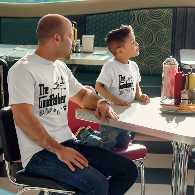 Kişiye Özel Esprili 3 lü Aile Tişörtü
