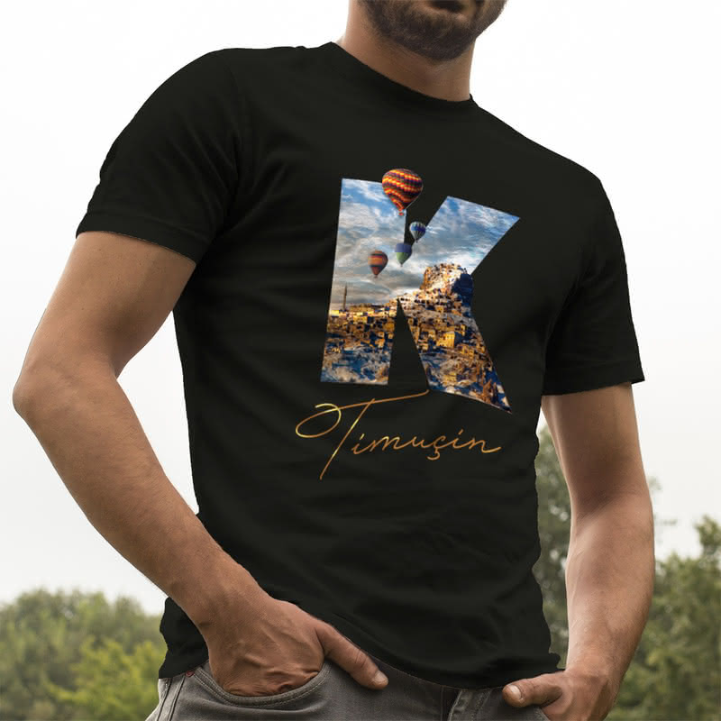 Kişiye Özel Kapadokya Tasarımlı Baskılı Tişört