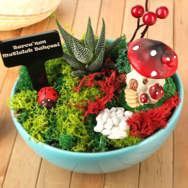Kız Arkadaşa Hediye Şirin Minyatür Bahçe