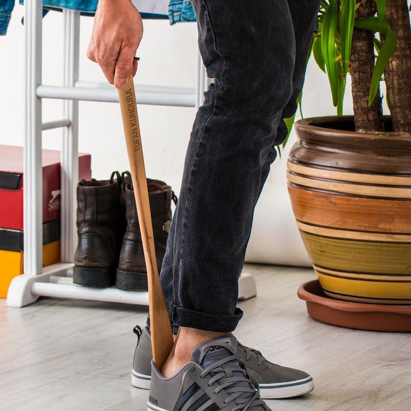 Kurumsal Hediyelik Ahşap Ayakkabı Çekeceği