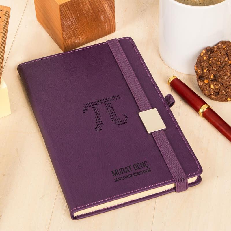 Matematik Öğretmenine Pi Tasarımlı Not Defteri