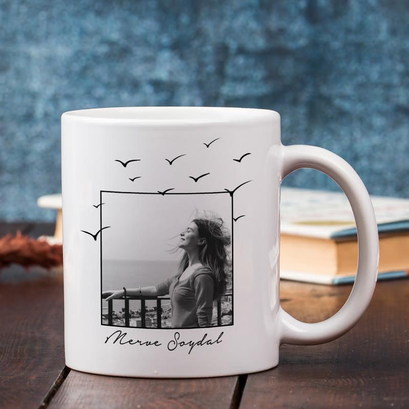 Motivasyon Kahvesi Fotoğraflı Kupa Sunum Seti