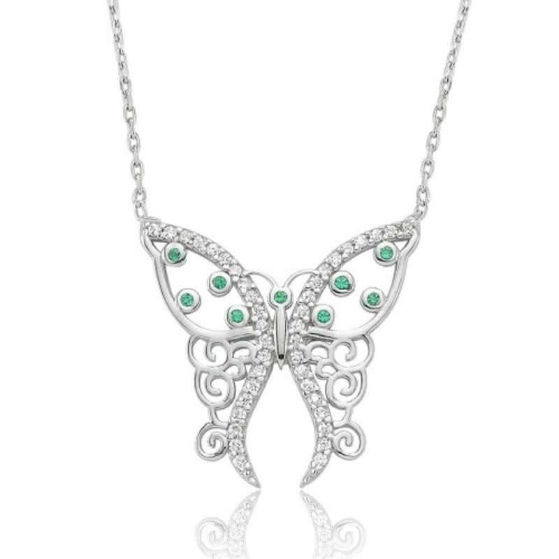Narin Gümüş Kelebek Kolyeli Sevgi Sepeti