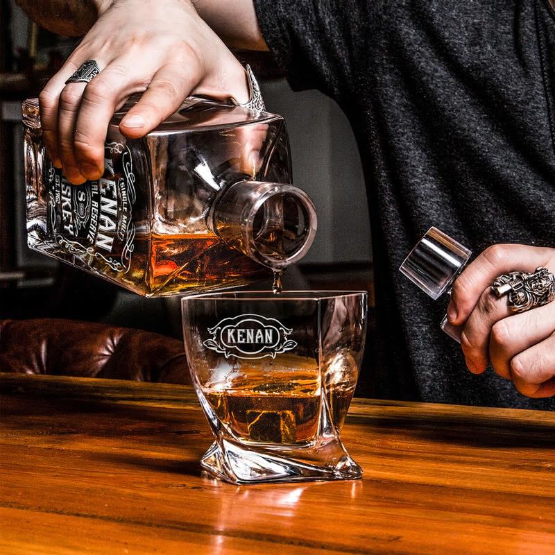 Retro Tasarımlı Kişiye Özel Highland Viski Seti