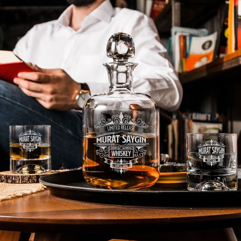 Retro Tasarımlı Nashville Viski Seti