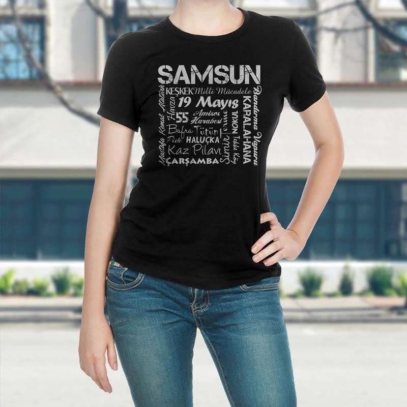 Samsun a Özel Tasarımlı Baskılı Tişört
