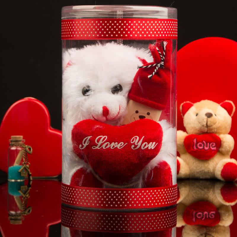 Seni Çok Seviyorum Çikolata Hediyeli Peluş Ayıcık