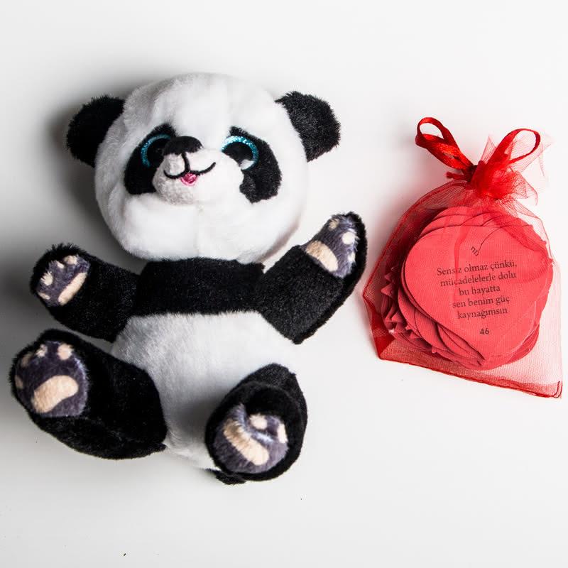 Seni Seviyorum Çünkü Mesaj Kartlı Peluş Panda