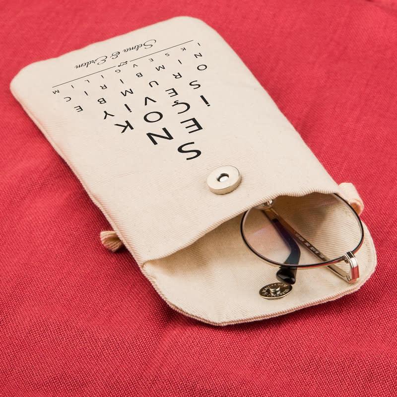 Seni Seviyorum Göz Testi Tasarımlı Gözlük Kılıfı