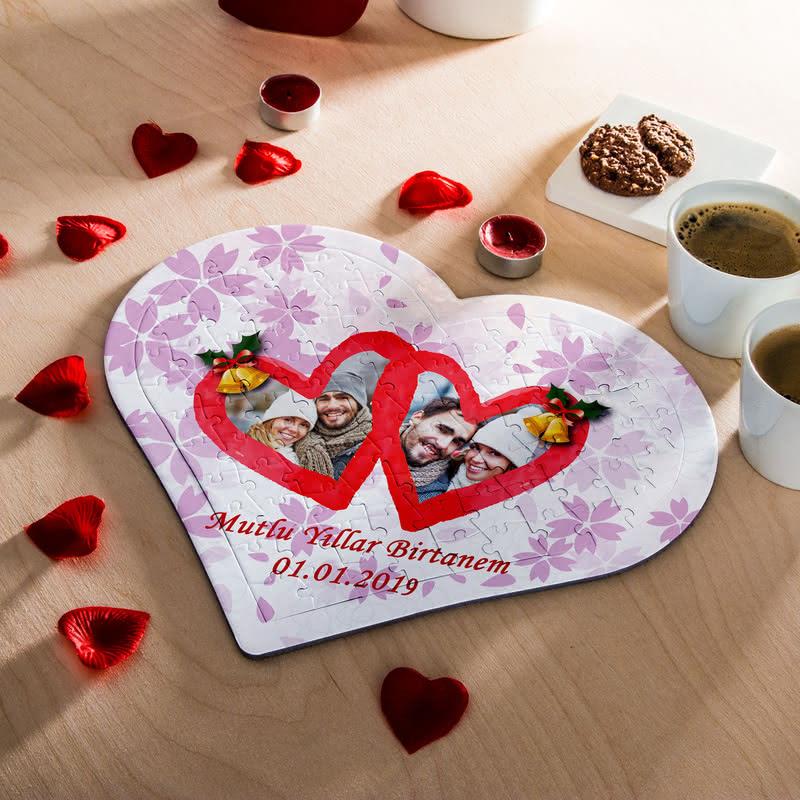 Sevgiliye Doğum Günü Hediyesi 97 Parça Kalp Puzzle