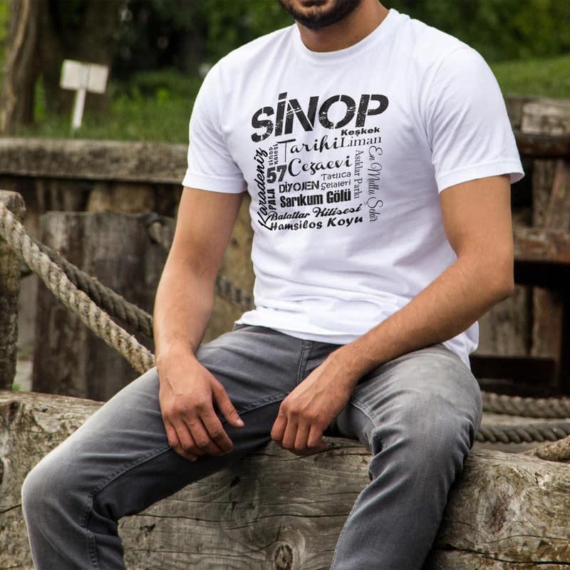 Sinoplulara Hediye Özel Tasarımlı Baskılı Tişört