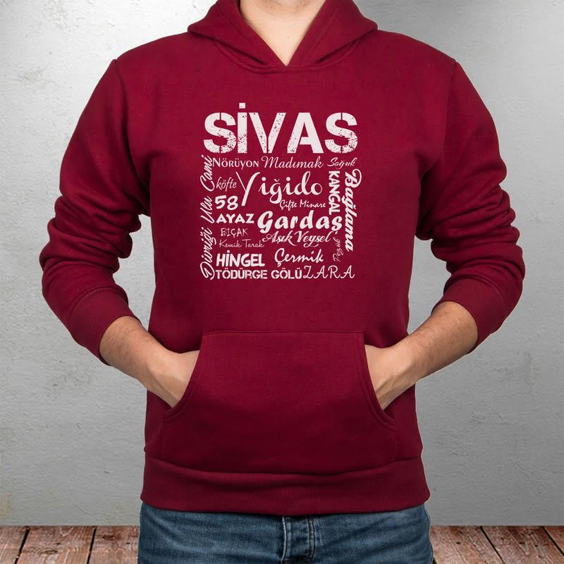 Sivas Şehrine Özel Hediye Kapşonlu Sweatshirt