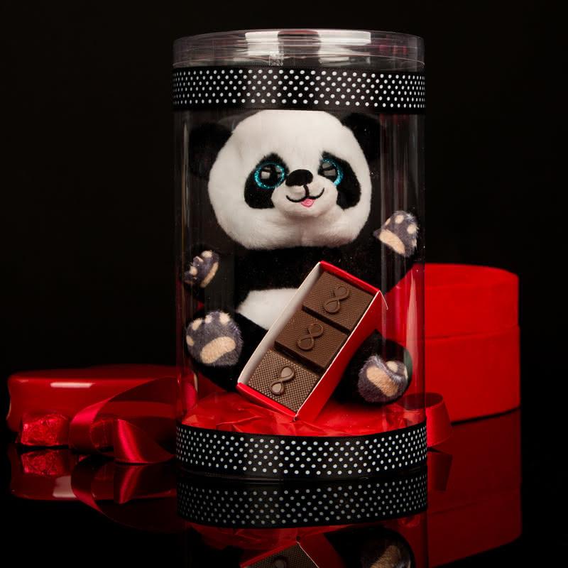 Sonsuz Aşk Çikolata Hediyeli Sevimli Panda
