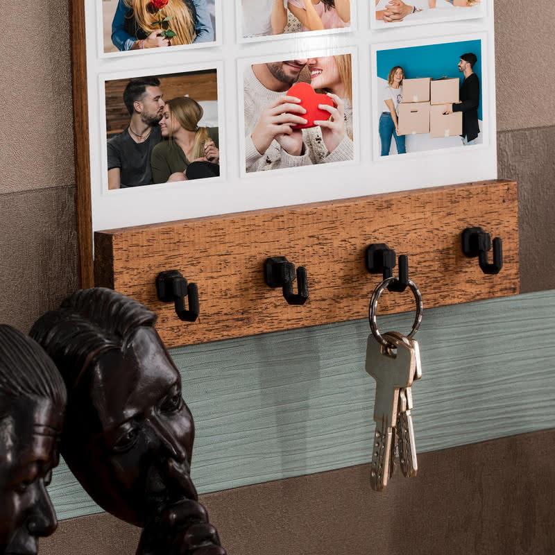 Yeni Ev Hediyesi Fotoğraf Baskılı Masif Duvar Anahtarlığı