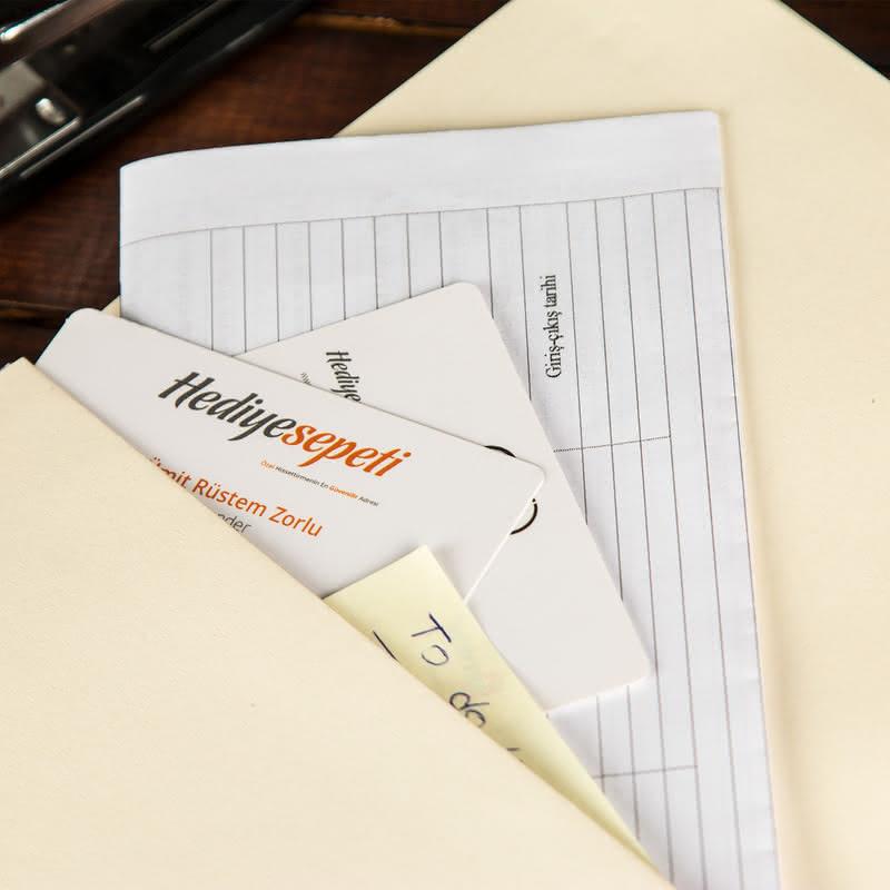 Yeni İş Hediyesi İsim ve Ünvan Yazılı Not Defteri