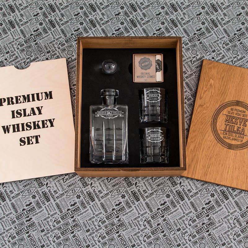 Yıl Dönümü Hatırası Islay Viski Seti