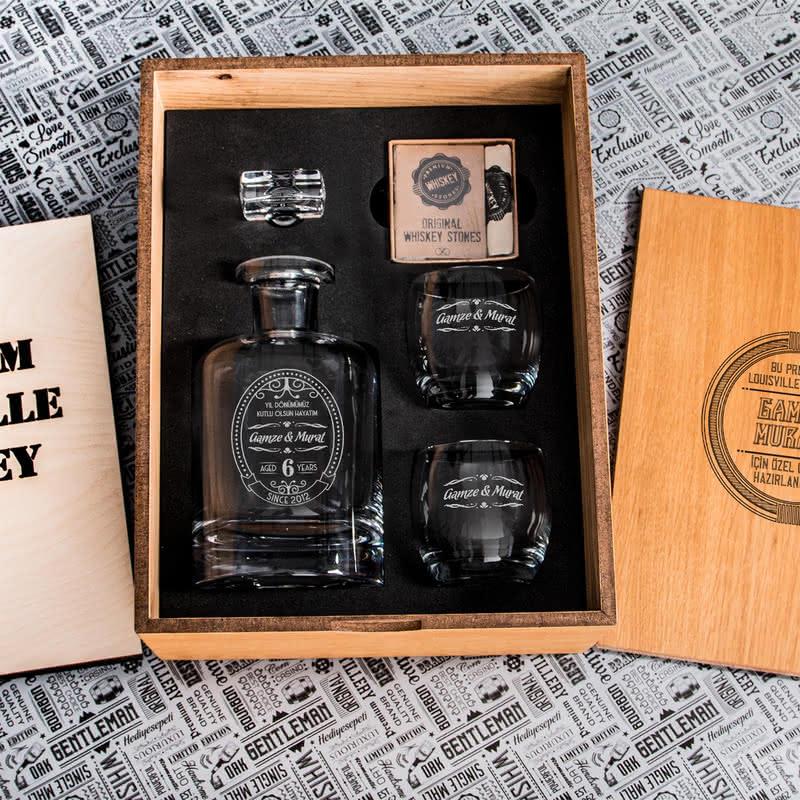 Yıl Dönümü Hatırası Louisville Viski Seti