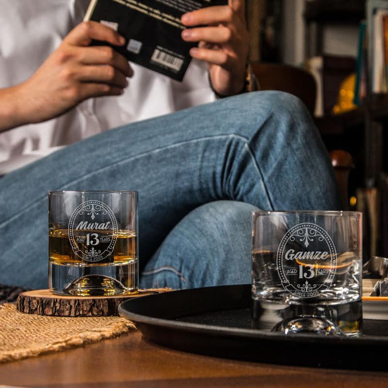 Yıl Dönümü Hatırası Viski Kadeh Seti