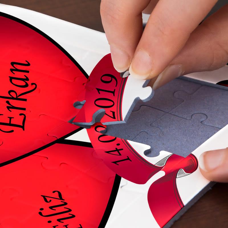 Yıl Dönümü Hediyesi 27 Parça Kalp Puzzle