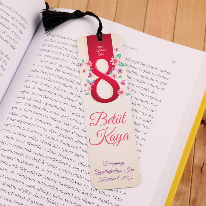 8 Mart Kadınlar Gününe Özel Kitap Ayracı